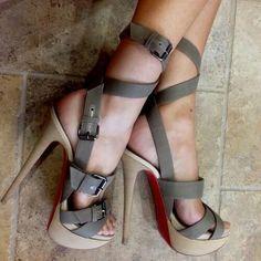 Cute strappy heels. Wish they were shorter!!