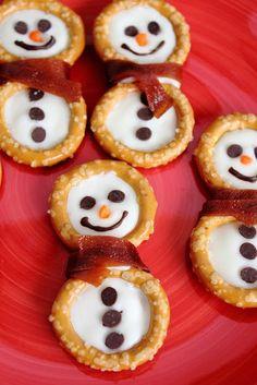 Pretzel-Snowmen