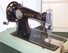 This is a Singer 15-88, the same machine as the famous 15-91 except that this one was made before the advent of sewing machine motors.