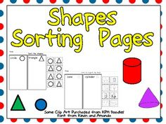 This FREE packet includes three practice pages for students to sort both 2-d and 3-d shapes. On one page, students sort circles and triangles, while on another, students sort cones and cylinders. On the last page, students must sort squares and cubes, noticing which are flat and which are solid shapes.