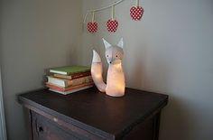 DIY plush fox lamp!!!
