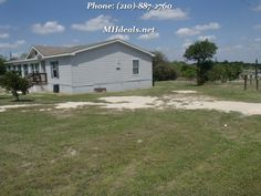 Standing at 2,304 square feet (32x 72) and standing on .73 acres, this 3 bedroom 2 bathroom double wide home is a great starter home for anyone. Resides minutes from town in a beautiful country setting. The interior comes with: a Ceiling Fan, Garden tub, Laundry Room, Pantry, Split Floor Plan, Walk-in Closets. The recent refurbishments include new carpet and vinyl flooring.  If you're interested call us at (210)-887-2760   LIC 36155