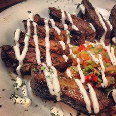 Skirt steak with habanero pico de gallo and garlic lime sour cream ...