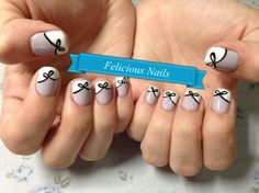 Use this as a accent nail... the bows are really cute.