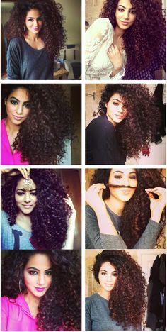 "Pakistani singer Annie Khalid. Drop ""curl"" gorgeous. #CurlyHair #NaturalHair"