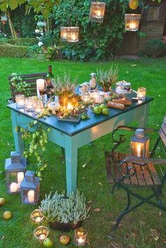 Beautiful candlelight dinner