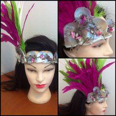 Simple tahitian feather headpiece - tahitian dance costume - polynesian dance costume