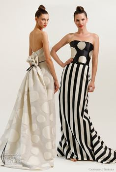 polka dots and stripes from carolina herrera resort 2012