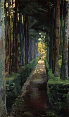 cavetocanvas:  Melancholy Promenade - Diego Rivera, 1904