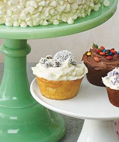 Yellow Cupcake With Vanilla Frosting and Nonpareils recipe