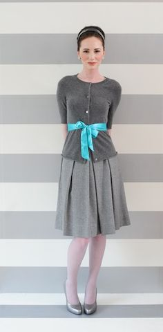 .shades of gray with a pop of turquoise is just beautiful