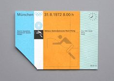 TICKET PASSES OF THE 1972 MUNICH OLYMPIC GAMES