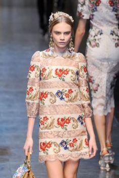 Dolce & Gabbana   #flower #lace #vintage #dress