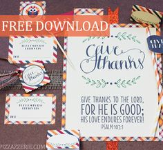 Printable Thanksgiving Set from Pizzazzerie, featured @printabledecor1 @savedbyloves