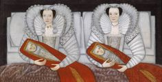 At last I've found the painting that's been in my head for the last 4 months.......British School 17th century, 'The Cholmondeley Ladies' circa 1600-10