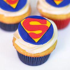 Superman Cupcakes   MyRecipes.com