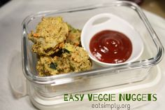 Easy Veggie Nuggets recipe - wonder if I could sub something for the egg?
