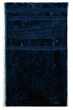 indigo........................John Zurier Night 25, 2007-2008. distemper on linen, 42 x 26 inches