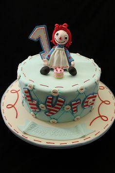 Raggedy Ann cake, via Flickr.