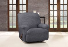 Stretch Denim Recliner Slipcover; Cozy... just like your favorite blue jeans.