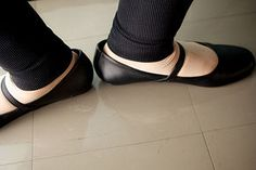 Break in Leather Ballet Shoes - This totally works!