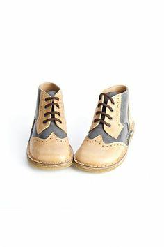 Pepe Bi-Color Lace Up Boots