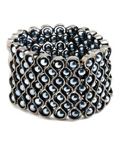 Take a look at this Gray Pearl Stretch Bracelet by Amrita Singh on #zulily today!