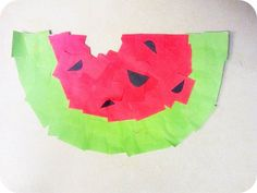 Watermelon craft Re-pinned by #PediaStaff.  Visit http://ht.ly/63sNt for all our pediatric therapy pins