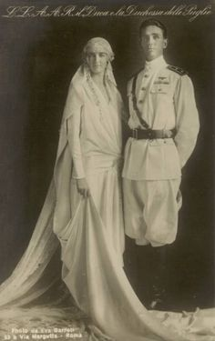 Prince Amedeo of Italy, Duke of Aupalia and Princess Anne of France (Orleans), Nov. 5,1927