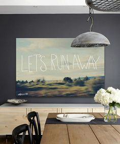 'Let's Run Away' Gallery-Wrapped Canvas #zulilyfinds