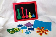 Felt Weather Flannel Board Set - Board Included - Homeschool Preschool Felt Weather.Etsy.