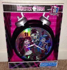 Monster High Twin Bell Jumbo Alarm Clock NEW room decor