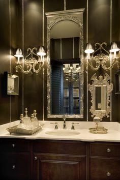 Gorgeous dark bathroom