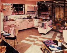 This is what my fully finished basement will look like (when I have my house). Mid-century home decor adored the amazing basement space. Complete with additional 'party' kitchen and 'rumpus' area.