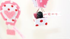 Valentine Hot Air Balloon Tutorial | #kidgiddy #craft #nosew #Phoomph