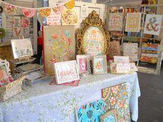 daisies, daisi wwwkatiedaisycom, tabl idea, craft fair, fair booth, kati daisi, artwork, booth idea