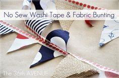 tape bunt, tape fabric, buntings, fabric bunt, tapes