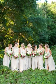 #Bridesmaids | Eric Boneske Photography | See the wedding on #SMP: http://www.stylemepretty.com/little-black-book-blog/2013/12/06/wilmington-wedding-from-eric-boneske-fiore-fine-flowers/