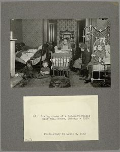 Living rooms of a tenement family near Hull House, Chicago, 1910