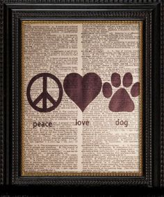 peace stuff, dogs, vintage, dog paw prints, dogvintag dictionari