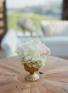 a pretty mix of peonies + hydrangeas  Photography by amyandstuart.com, Coordination by pryorevents.com, Floral Design by hiddengardenflowers.com
