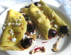 Roasted Balsamic Cherry and Goat Cheese Crêpes | Lisa's Kitchen | Vegetarian Recipes | Cooking Hints | Food