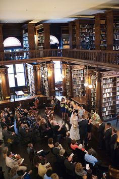 I need to get married in a library.
