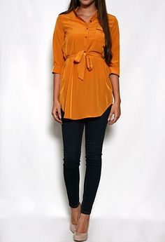3/4 Sleeve Tunic with Waist Tie More Colors Available #PrivateGallery #PGWishList!