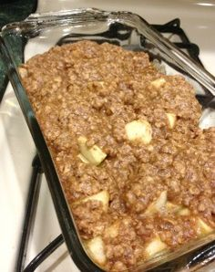 Under 200 Calorie Apple Crisp! Easy to make and even more delicious to eat.