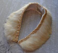 Vintage Fur Collar  - Genuine Rabbit Fur. $25.00, via Etsy.