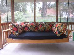 Hanging Porch Bed Swing on Etsy, $625.00