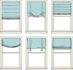 roman shade styles