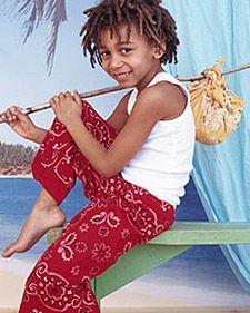 sew stuff, kids clothes, sewing projects, basic sewing, diy crafts, pj pant, bandana crafts, bandana pant, cloth craft