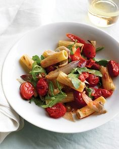 Pasta with Roasted Vegetables and Arugula - Vegan